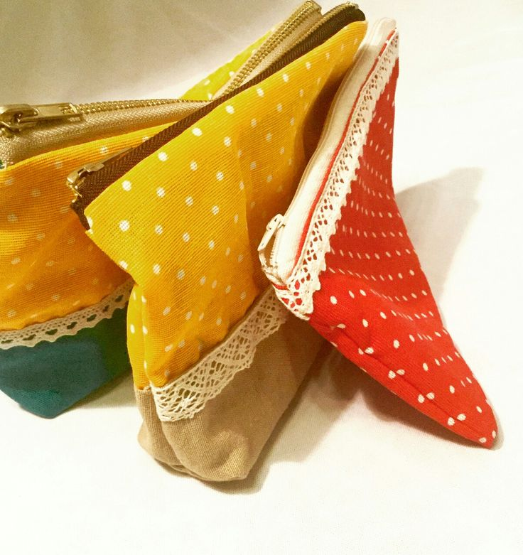 Fall inspired zipped pouches