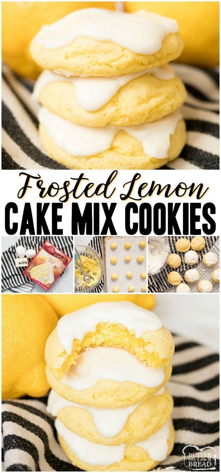 Lemon Cake Mix Cookies sind weiche und köstliche Zitronenplätzchen, die mit …   – Cookie Recipes