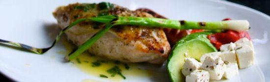 Grillet kyllingbryst med salviesmør