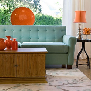 Millie Sofa in Aqua Blue