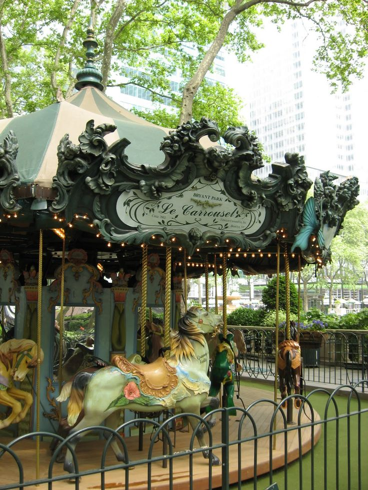 Bryant Park Carousel in New York City