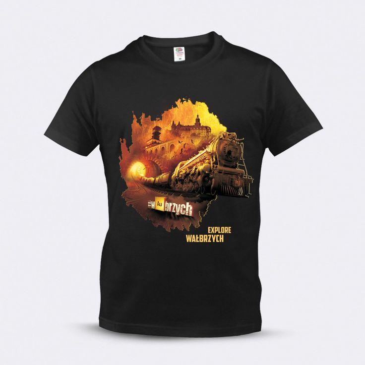 Explore #wAubrzych t-shirt - you can buy it here in Książ Castle on-line shop: www.sklep.ksiaz.walbrzych.pl