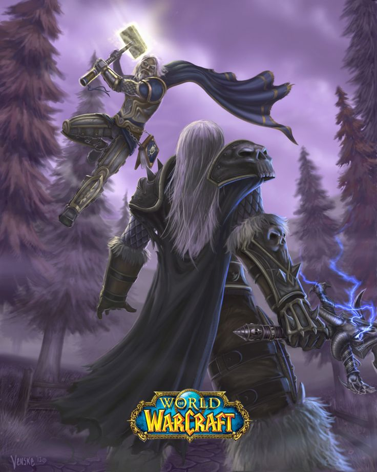 Arthas and Uther by VenskeArts on DeviantArt