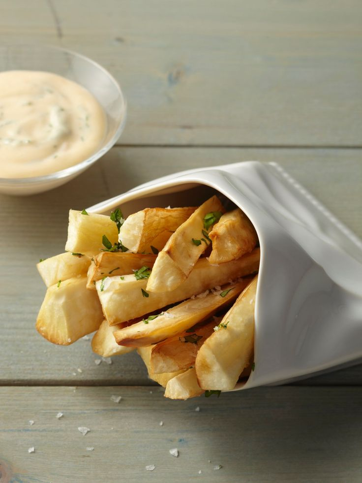 Get this all-star, easy-to-follow Yucca Fries with Mojo Mayo recipe from Food Network Kitchen