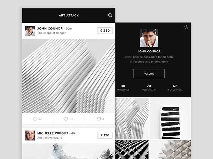 Hey there,  So I've been working lately on an interesting iOS app, specially because it is black and white only, my fav colors :)  So the app allows you to upload any artwork, but it is up to you i...