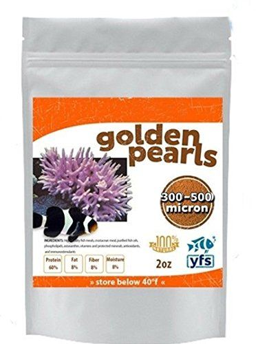 USE!  Reef Fish Food Golden Pearls Fry  Coral 300