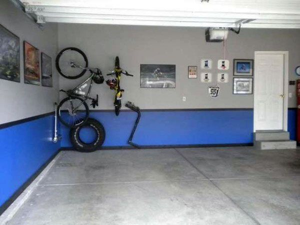 Blue And Grey Painted Garage | Garage Ideas | Pinterest | Gray, Garage  Ideas And Garage Organization Great Pictures