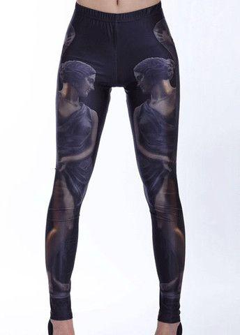 Posh Middle Elastic Waist Sexy Woman Pattern Leggings – teeteecee - fashion in style