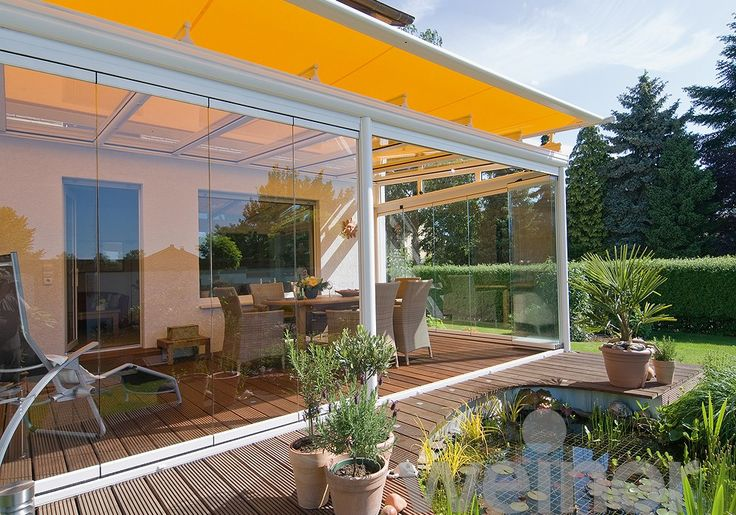 Glass room with awning feature, Weinor Glass Rooms - Provided by OpenSpace Living
