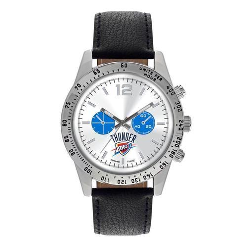 Oklahoma City Thunder Men's Watch Letterman Leather Watch
