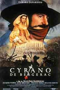 """This might be my favorite play of all time. See Act III, Scene X: """"After all, what is a kiss? A vow made at closer range, a more precise promise..."""": Cyrano De, French Film, De Bergerac, Gerard Depardieu, Movie Poster, Movies Online, Book Jackets, Bergerac 1990, Movies Trailers"""