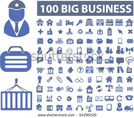 100 big business signs. vector by VectorForever, via ShutterStock