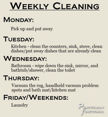 Best 25+ Apartment cleaning schedule ideas on Pinterest ...