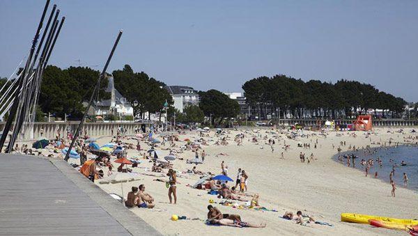 Benodet, La Pointe St Gilles, South Brittany, beach