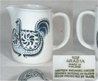 Arabia of Finland pitcher