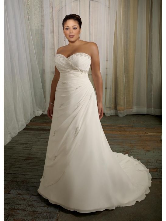 Trendy Look amazing for your special day in this plus size wedding gown from Mori Lee Julietta This dress is strapless with a sweetheart neckline