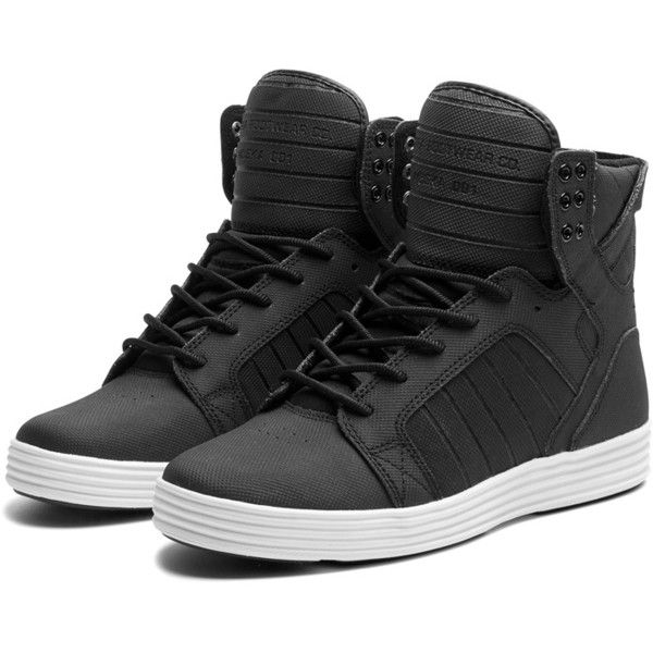 SUPRA Footwear ($125) ❤ liked on Polyvore featuring shoes, sneakers, chaussures, zapatos, supra, evening shoes, lightweight sneakers, grip trainer, traction shoes and special occasion shoes