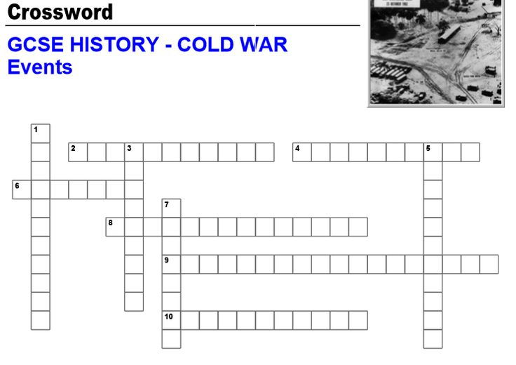 Free Printable Cold War Crossword puzzle with Answer Key ...