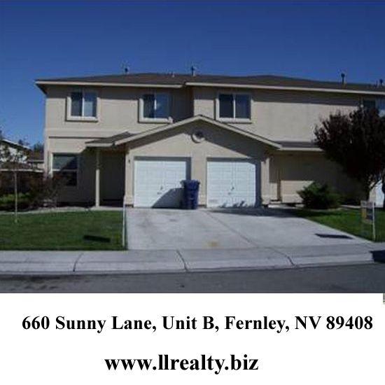 660 Sunny Lane, Unit B, Fernley, NV 89408 Size: 1150 Bedrooms: 2 For more details, visit at: http://www.llrealty.biz/listing/660-sunny-lane-unit-b-fernley-nv-89408/ #HomeForSale #Home #Houses #RealEstate #PropertyForSale #ApartmentForSale #PropertyinFernley