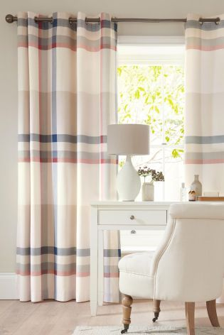 Buy Large Check Eyelet Curtains online today at Next: Australia