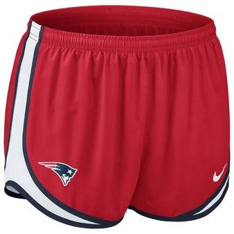 Official New England Patriots ProShop - Ladies Nike Tempo Shorts-Red #Patriots