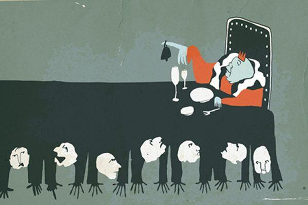 El jefe. Ilustración para periódico La directa, Barcelona.
