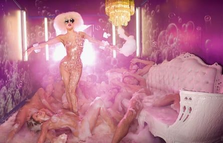 Lady Gaga Bursting Bubbles, 2009. Photograph: © David LaChapelle Studio
