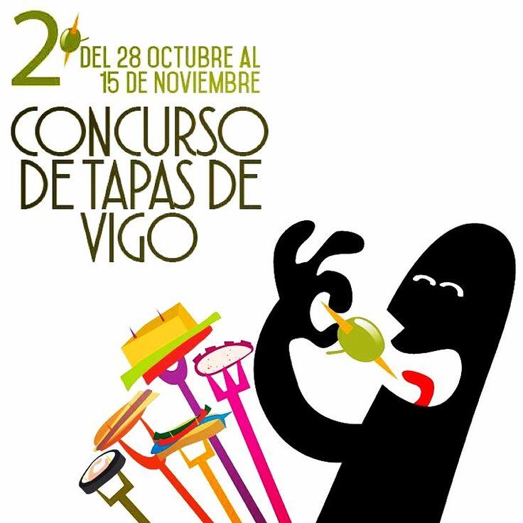 2º concurso de Tapas de Vigo, del 28 de octubre al 15 de noviembre. www.facebook.com/petisquino