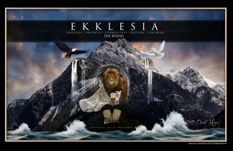 Prophetic Art of David Munoz~ EKKLESIA The Apostle, The Prophet, The Evangelist, The Pastor and The Teacher.  One bride, one body, as He always wanted to be. The Ekklesia is rising in a new level of understanding,David Munoz, Kingdom Revelation, Prophetic Art, Munoz Prophet, Jesus Freak, The Prophet, Prophet Art
