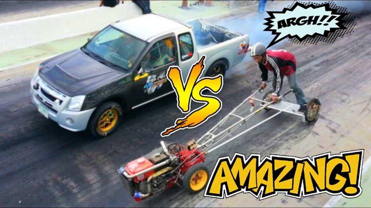 GOKIL!!! DRAG MOBIL vs. TRAKTOR 😀