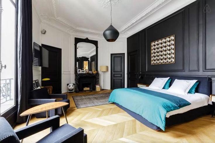 id es d co des moulures et boiseries noires boiserie noire haussmannien et boiseries. Black Bedroom Furniture Sets. Home Design Ideas