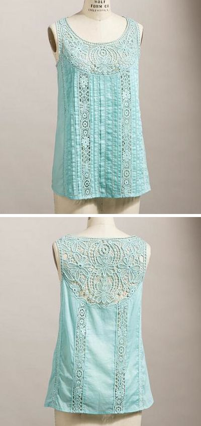 Absolutely gorgeous turquoise lace tank. Angel Tank