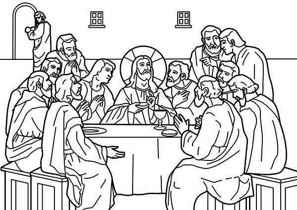 صور تلوين خميس العهد Jesus Coloring Pages Coloring Pages Last