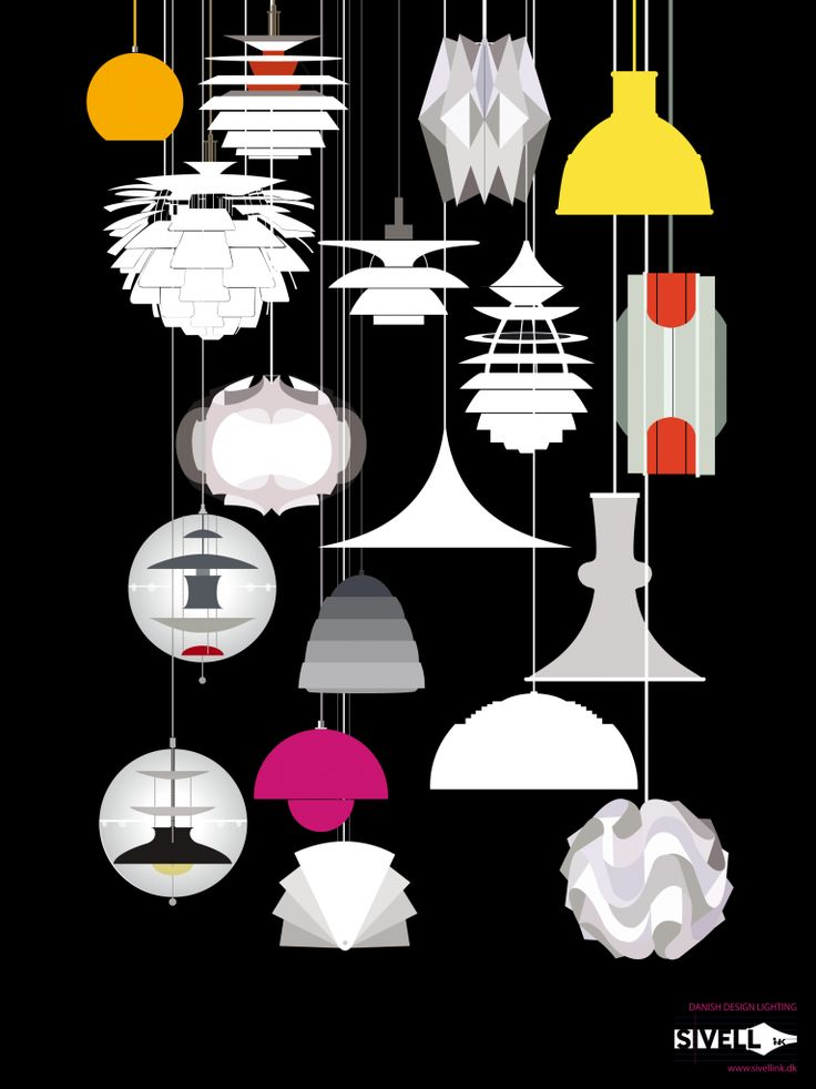 Danish lighting - poster by Sivellink Illustration (Emma Victoria Sivell)