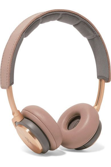 Beige leather (Lamb), gray mesh Compatible with MP3, cell phones and other audio devices Imported