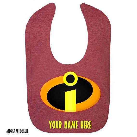 The Incredibles personalised baby dribble bib  drool bib