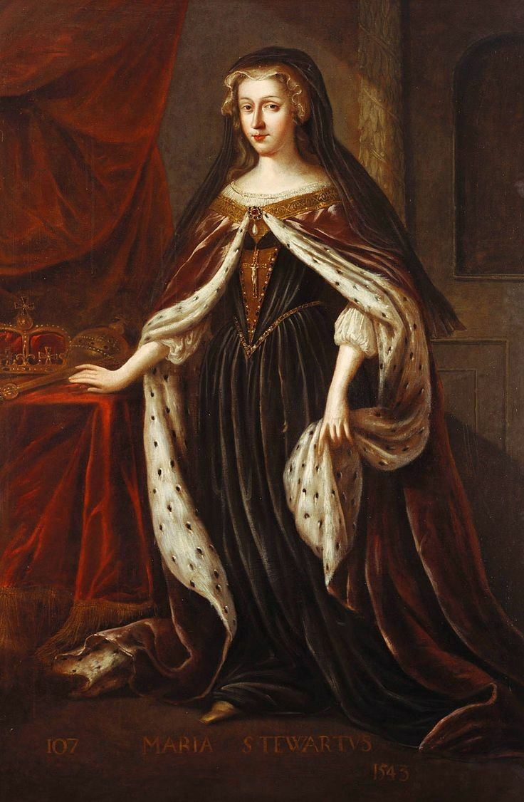 Mary, Queen of Scots. This portrait hangs in Holyrood Palace in Edinburgh.