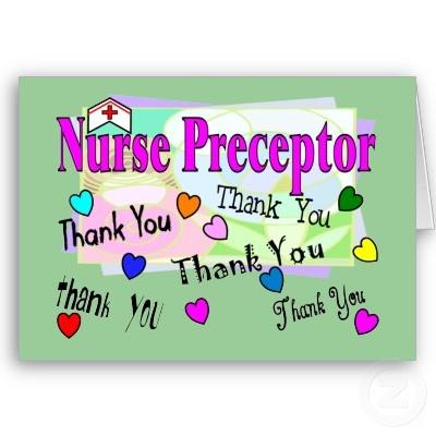 Nurse Preceptor Thank You Card Greeting Card Nurses And