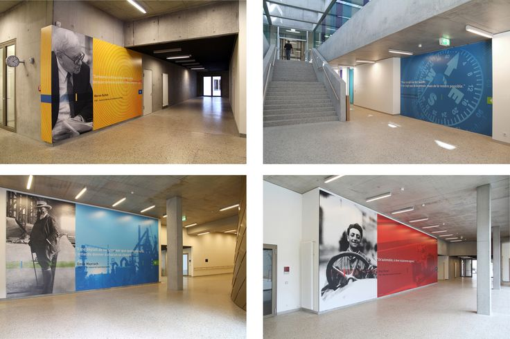 This week's design inspiration comes from the eye-popping graphics and signage at Bel-Val High School in Belvaux, Luxembourg!