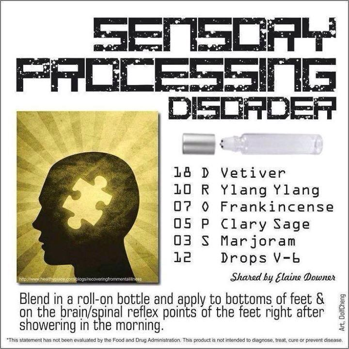 Essential Oils for Sensory Processing   For more info, visit:  http://www.thesavvyoiler.com
