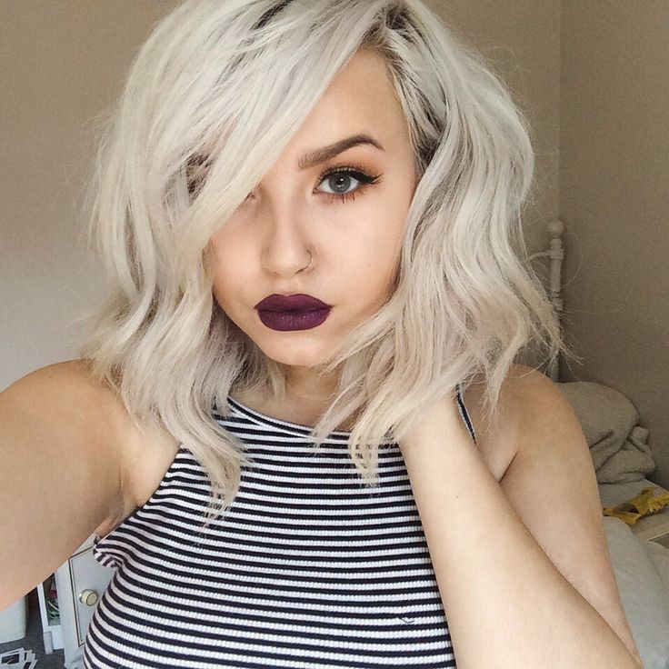 short platinum hair ideas