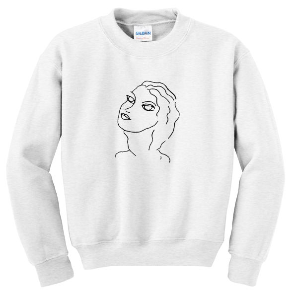 Beautiful Girl Sketch Sweatshirt