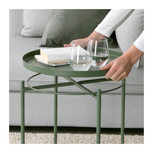 GLADOM Salontafel met dienblad - donkergroen - IKEA