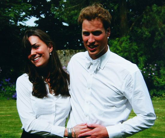 : A young Kate Middleton and Prince William were photographed together at St. Andrews in June 2005.: