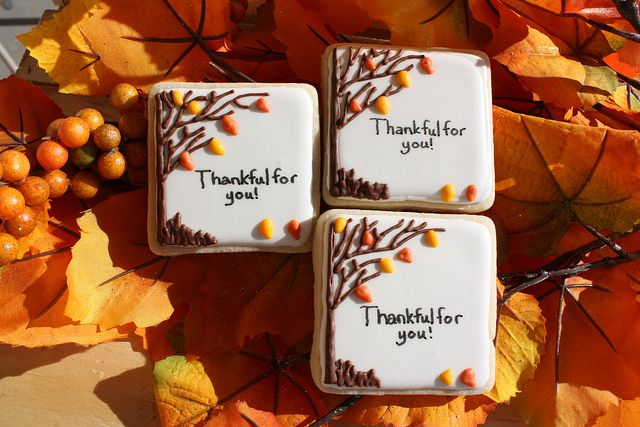 Thankful For you! Thanksgiving Cookies
