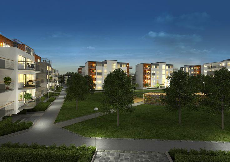 3D render, Kvibergs Terrasser, Sverigehuset