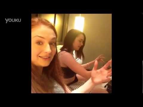 视频: Maisie Williams Sophie Turner Vining三合一 - YouTube