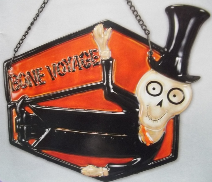 Bone Voyage Sign Boney Bunch