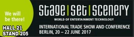 See you soon at Stage Set Scenery 2017 in Berlin!  Visit us at Hall 21 Stand 205  #decima #webuildemotions