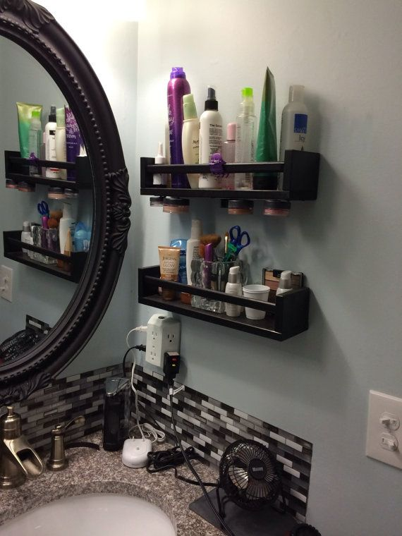 Hanging Magnetic MakeUp Storage--GREAT for clearing up counter space!! They'll paint it any color you want for just $10.00!